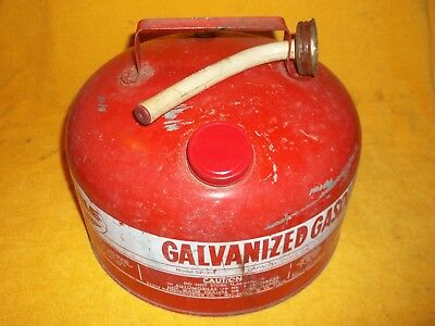 Vintage Eagle 2 1/2 Gallon Galvanized Gas Can Model Sp 2 1/2 With Spout