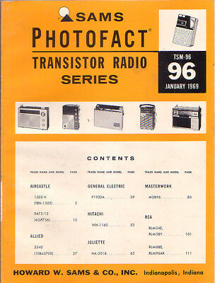 SAMS Photofact Transistor Radio Series Repair Manual TSM-96