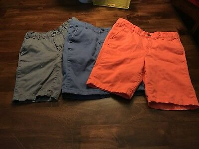 Lot 3  Children's Place Boys Size 8 Shorts Coral Navy Grey