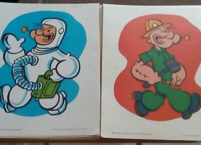 Vintage 1973 Popeye King Features Library Career Cards 11x14 Complete Set