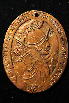 Great Britain England 1677 Fantasy King Charles Ii Indian Peace Medal