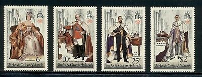 Turks & Caicos Islands Scott #342-345 MNH British Monarchs $$