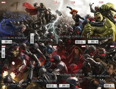 Avengers Ultron Forever #1 1:25 Movie Connecting Variant Set Nm