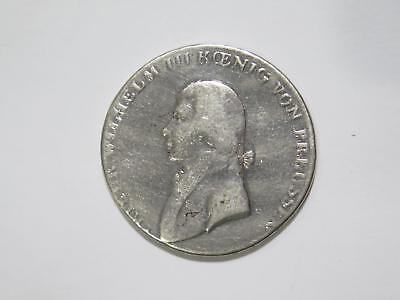 Germany Prussia 1803? A Thaler Wilhelm Silver Damaged World Coin Collection Lot