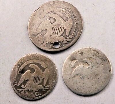 (3) Mixed Bust Half Dimes + Bust Dime Lot ~ Dateless ~ #L101