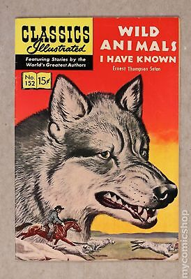 Classics Illustrated 152 Wild Animals I Have Known #1 1959 FN 6.0