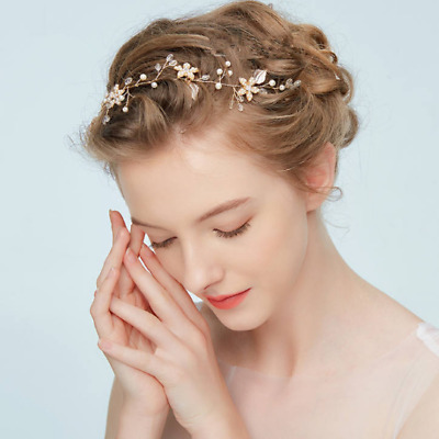 ROSE GOLD Leaf Vine Bridal Headpiece. Delicate Crystal Pearl wedding headband 14