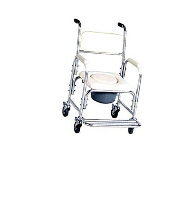 Aluminum Shower Chair/bedside Commode W/casters and Padded Seat, Commode P..