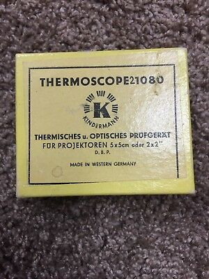 "Vintage Kindermann Thermoscope 1080 Slide Projector 2"" x 2"" Performance Tester!"