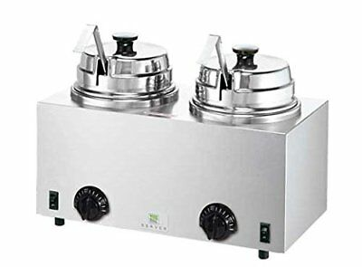 Server Products Twin-FS-81220 Twin Fudge Server Warmer with Ladles, 3 quart Stee