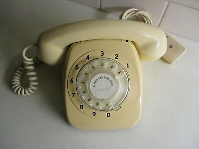 1967 RETRO 801 Series Telephone. Tested & Working. GC. Light Ivory 51 years Old