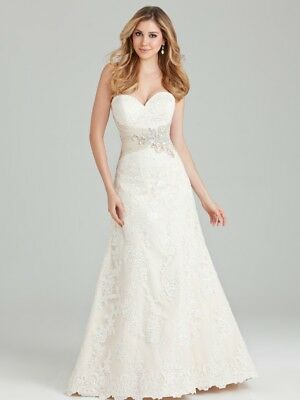 Allure Wedding Dress Style 2569 Ivory / Silver Size 8
