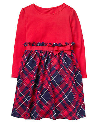 nwt gymboree north pole party red plaid dress christmas baby toddler girl