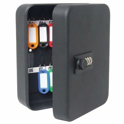 36 Hook 3 Dial Combination Key Cabinet - x Sterling Black 240 300 Lock Tags 80