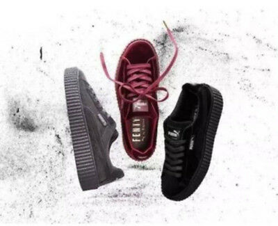 1532408b359619 New Velvet Puma Fenty PUMA Creeper Rihanna x Pack Trainer Sneaker Shoes