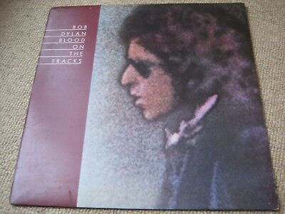 Bob Dylan Blood On The Tracks LP Uk 1st Press CBS - Rear shows Hamill review