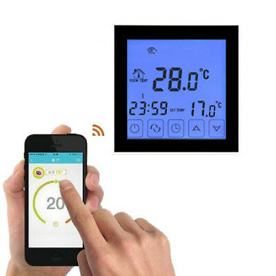 digital touch screen wi fi wlan fu bodenheizung thermostat. Black Bedroom Furniture Sets. Home Design Ideas