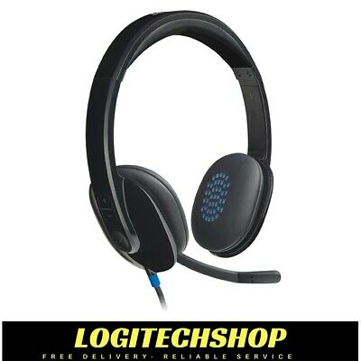 Logitech H540 USB Computer Headset - HD sound & on-ear controls (Free Postage)