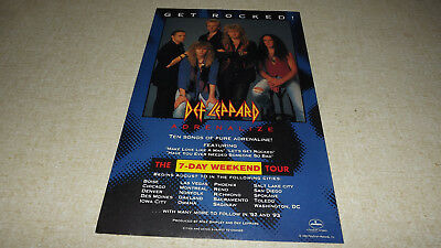 1992  Def Leppard Adrenalize    Comic Print Ad    Rare Vintage   Music   Band