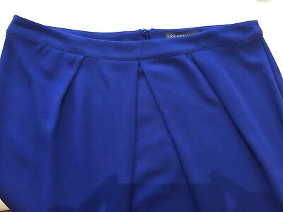 M&S Collection Royal Blue knee length Skirt 14 perfect condition