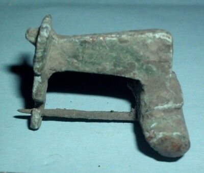 Ancient Roman Bronze Knee Fibula Brooch - 50/100 Ad - Rare Type!