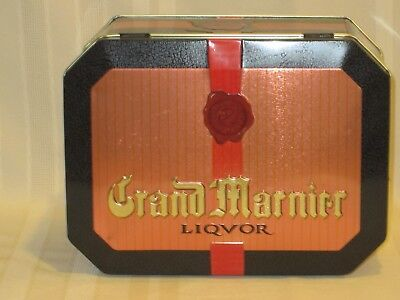 Vintage Grand Marnier Liquor Tin - or Liqvor - with embossed faux wax seal