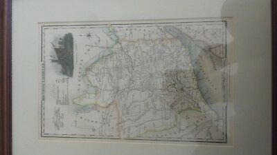 Rare Monmouthshire Map Pigot & Co Framed (Mystery Herefordshire ref)