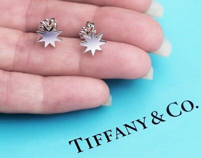 Tiffany & Co Paloma Picasso Stella Star Sterling Silver Stud Earrings