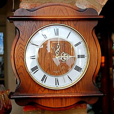 Vintage Japanese 'Seiko' Quartz Wall Clock with Westminster Chimes