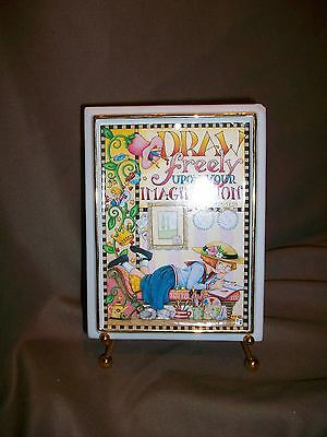 Mary Engelbreit Golden Touches Plaque Easel Draw Freely Imagination Artist