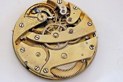 Antique high grade Pocket Watch Movement 40mm working swiss
