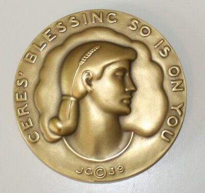 Society of Medalist #20 Cere's Blessing by John Gregory - 1939
