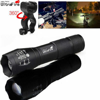 Ultrafire 50000Lumens XM-L T6 Zoomable Tactical LED 18650 Flashlight Torch Lamp