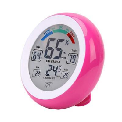 Hygrometer LCD Indoor Thermometer Temperature Humidity Monitor Gauge Pink