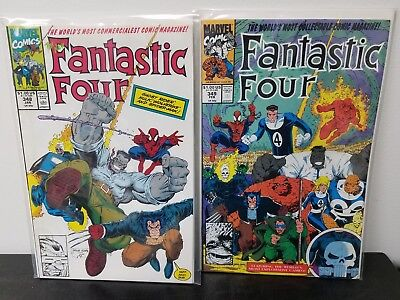Fantastic Four #348 - 349 (Jan 1991, Marvel)