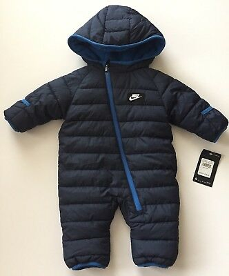 Nike Blue Snow Suit Infant Size 3/6 Months Synthetic Filling MSRP $75