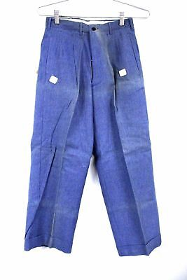 Vtg Boys Pants 40s Work Wear Dead Stock NWT Sanforized Cotton Button Fly Sz 10