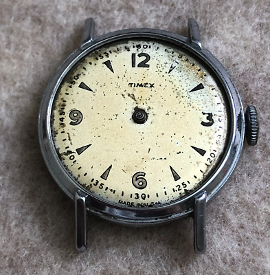 Vintage Timex Men's Watch USA Parts/Repair Wrist Wind Up US Time Antique