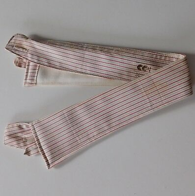 Striped utility collar Radiac Selsdon CC41 14.5 WW2 vintage 1940s wartime UNUSED