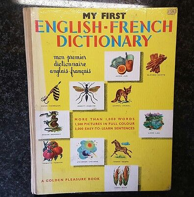 Very Rare vintage My First English-French Dictionary by Paul Hamlyn 1962