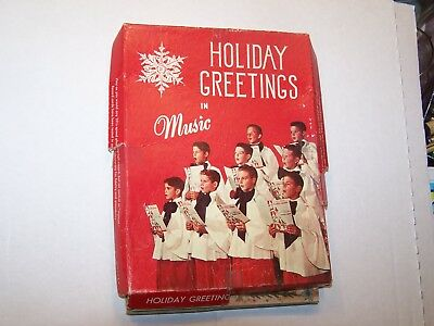 Nip full box of 8 holiday greetings in music 33 rpm record cards nip full box of 8 holiday greetings in music 33 rpm record cards with envelopes m4hsunfo
