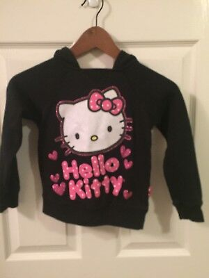 Girls Hello Kitty Hooded Sweatshirt (size 6) And Purse