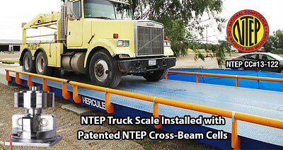 Truck Scale 40 x 12 ft Truck Scale 130,000 lb Steel Deck NTEP APPROVED