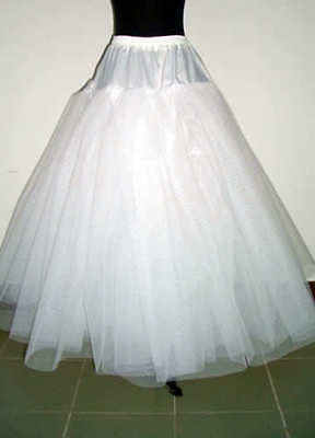 New Long White no hoop Bridal wedding Petticoat/Underskirt/Slip crinoline