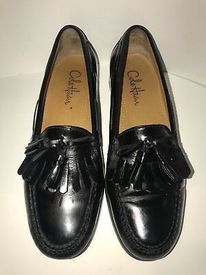 305f3a002b8 Cole Haan Black C02691 Kiltie Tassel Pinch Shawl Moc Dress Loafers Mens US  9.5D