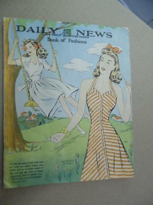 1944 New York Daily News Book of Fashion Women Pattern Catalog WWII era Vintage