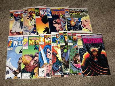 Marvel Comics Presents #89-100 complete run Wolverine VF-NM