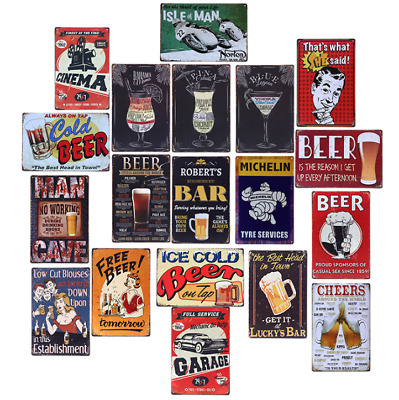 Metal Sign Retro Tin Vintage Plaque Bar Club Wall Decorative Antiques Beer 20*30