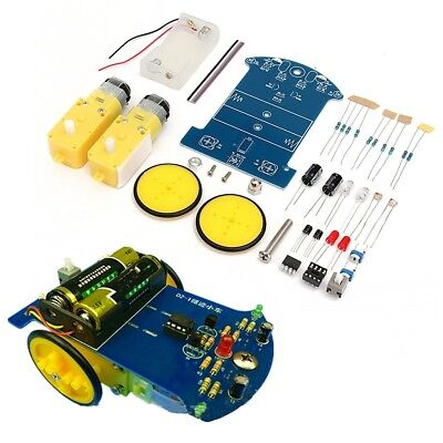 3V Smart Robot Car Tracking Chassis Kit 2WD Ultrasonic Reduction Motor Electric