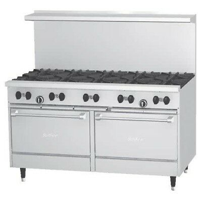 Garland Oven - 10 Burner Commercial Kitchen - Stainless Steel - Gas